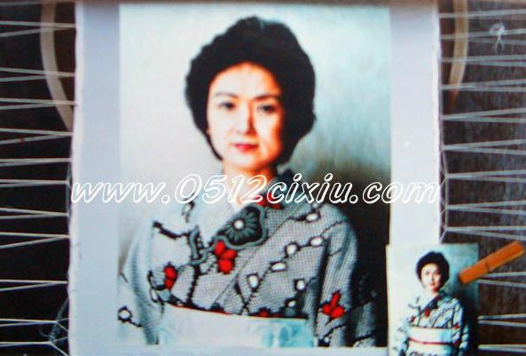 苏绣-肖像绣-和服女子
